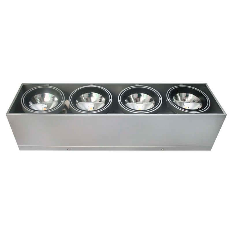 Housing for led downlight, KARDAN HIDRA, 4 spots
